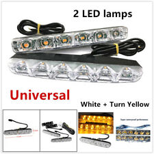 6LED DRL Daytime Running Light Daylight Turn Signal Universal Lamp White&Yellow