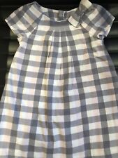 JACADI Pink Grey Check cotton A line shift dress 23 Months / 2 Years