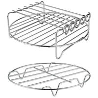 Air Fryer Accessories-Air Fryer Rack Set of 2, Multi-Purpose Double Layer R A4F5