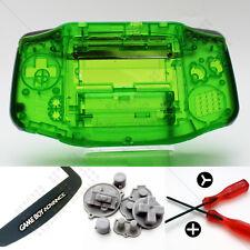 New Clear Green Nintendo Game Boy Advance GBA Casing (Case/Shell/Housing) Kit