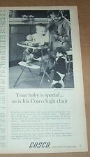 1964 print ad -Cosco baby high chair family dog mother Hamilton Columbus Indiana