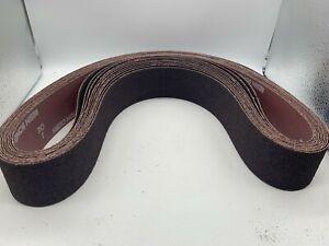 "Norton 78072721250 2""X48"" R228 40-Grit (Coarse) Metalite A/O Belts, Lot of 10"