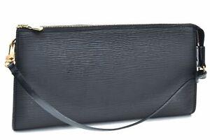 Authentic Louis Vuitton Epi Pochette Accessoires Pouch Black LV A4511