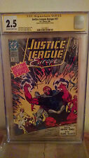 Justice League Europe #17 CGC 2.5 AUTOGRAPHED by KEITH GIFFEN