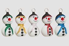 Christbaumschmuck Schneemann Weihnachtsschmuck Lauscha Glas Mundgeblasen