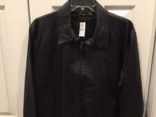 Golden Bear Mens Black leather jacket XL NWT