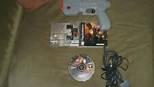 Sony Playstation 1 Ps1 Video Game-Time Crisis Plus Guncon Light Gun-Lot-Bundle
