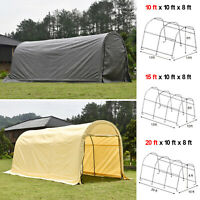Outdoor Canopy Carport Tent Car Shelter Storage Shed + UV Proof Tarp Garage Yard