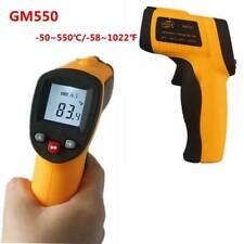 GM550 Digital Thermometer Laser IR InfraredTemp Meter Non-Contact LCD Pyrometer
