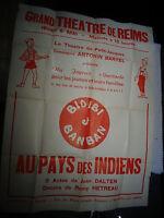 Ancienne Affiche Grand Théatre de Reims Spéctacle Enfants BIDIBI BANBAN Baryel