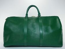 Louis Vuitton Keepall 50 Green Duffle Bag Suitcase Epi Leather Vintage Carry 237