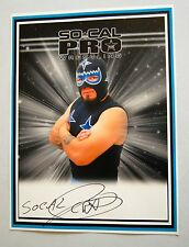 SoCal Crazy Lucha Libre Pro Wrestler SIGNED POSTER Indy Wrestling NEW AAA WWE 2