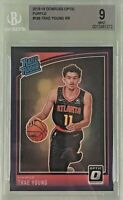 Trae Young 2018-19 Donruss Optic Rated Rookie Purple Prizm BGS 9 Mint