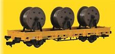 Kibri 26269 Low-Sided Wagon with 3 Cable Reels Track Construction,Finished