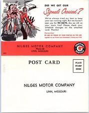 LINN, Missouri  MO   Advertising NILGES MOTOR COMPANY Pontiac Service  Postcard