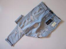 NWT Lucky Brand Sienna Slim Boyfriend in Aurora Destroyed Crop Jeans 8 / 29