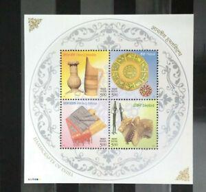 INDIA 2002 HANDICRAFTS OF INDIA MINATURE SHEET   MNH