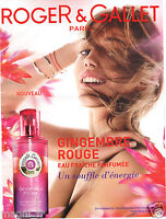Publicité 2014 - Gingembre rouge de ROGER & GALLET Paris