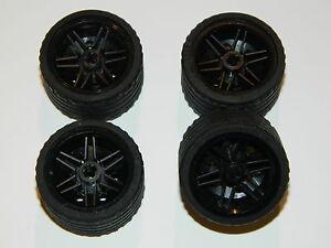 LEGO TECHNIC WHEELS set of 4 Tire 37 x 22 ZR Wheel 30.4 x 20mm BLACK large tyre