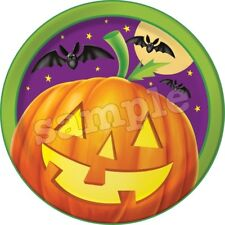 Halloween Tortenaufleger Party Deko Tortenbild Kürbis Totenkopf Geist Fledermaus