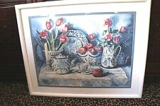 """REDUCED!! """"JOY EVANS"""" FRAMED/DOULBE MATTED SIGNED LITHOGRAPH/PRINT 1081/2900"""