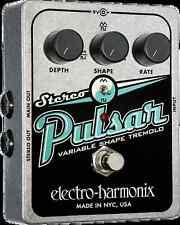 EHX Electro Harmonix Stereo Pulsar variable forme Analog tremolo guitar fx pédale