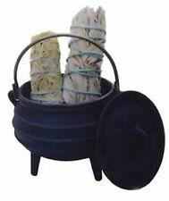 Cauldron Cast iron Bean pot Sz 1/4 Sage Smudge pot Syrup Kettle Candles