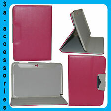 Pink Pouch Stand Flip Leather Case Cover for Samsung Note 10.1 N8000, N8010