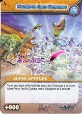 Carte DINOSAUR KING Série Titanesque DKTB 058/100 PLONGEON DANS L'IMPASSE