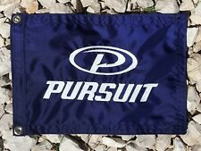 "Pursuit Tiara  Boat Navy 12""x18"" Embroidered flag"