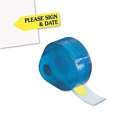 "Redi-Tag ""Please Sign & Date"" Arrow Flags in Dispenser - 81124"