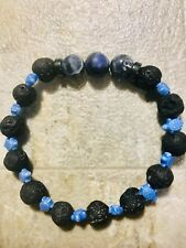 Chakra  Balance Natural Stone Bracelet/ With Turtle Spacers & 3 Sodalite Stones.