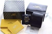 BREITLING Super Ocean 42 A17364 Black Yellow Dial Automatic Watch W/ Box Ex+++