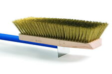 "Large Pizza Brush Adjustable with Brass Bristles and 59"" Handle for Pizza Oven"
