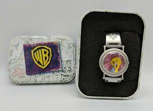 Warner Bros Studio Store Tweety Fossil Watch Wristwatch with Tin