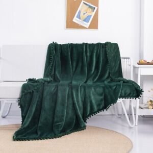 Soft Fleece Throw Blanket for Couch Sofa Bed Chair Lightweight Microfiber