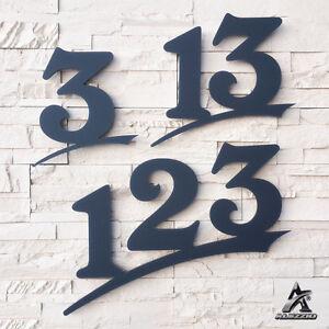 Hausnummer aus Acrylglas in Anthrazitgrau wie RAL7016, 6mm Stark ,16cm,20cm,30cm
