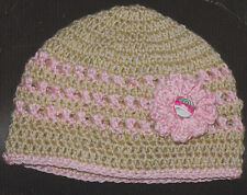 Crochet Pattern ~ Ladies PRETTY BEANIE HAT ~ Instructions