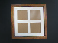 Antique Pine Wooden 14x14 Square Multi Aperture Picture Photo Frame 5x5 Photos
