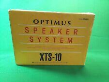 Optimus Speaker System XTS-10 Bookshelf Swivel Speakers! Tested and 100% Working