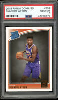 2018 Panini Donruss #157 DeAndre Ayton Suns Rated Rookie Card RC PSA 10 GEM MINT