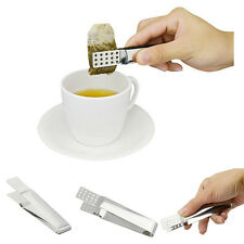Kitchen Tools Picker Set Food Clip Tea Bag Tong Squeezer Stainless Steel