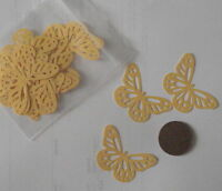 20  yellow pearlescent Butterfly Shapes Table Confetti Cards Weddings etc