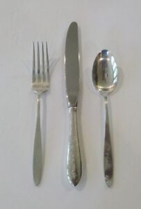Alvin LULLABY Sterling Silver Child's Flatware Set (Knife, Fork & Spoon)
