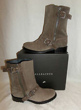 AllSaints Zip Suede Upper Ankle Boots Shoes for Women