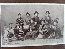 "JAPAN ~ OLD 1911 LADIES MUSICAL BAND ""SUNNY JAPAN"" SERIES PHOTO POSTCARD"