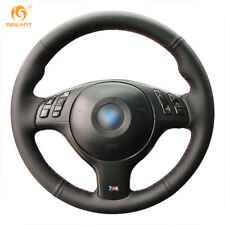 Leather Steering Wheel Cover for BMW E46 E39 540i 330i 525i M3 2001-2003 #BM66