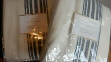 Pottery Barn Riviera Stripe Drapes 50x84 NIP Navy