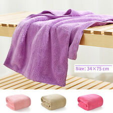 Super Soft Coral Fleece Face Hand Towels Bath Shower Towel Home Travel 34 x 75cm