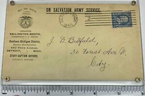 Salvation Army envelope 1895 William & Ballington Booth